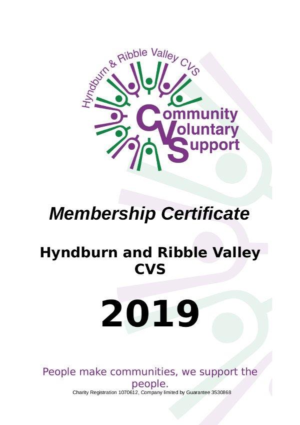 CVS Membership certificate